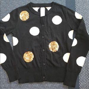 Cat&jack nwot size 6 black cardigan